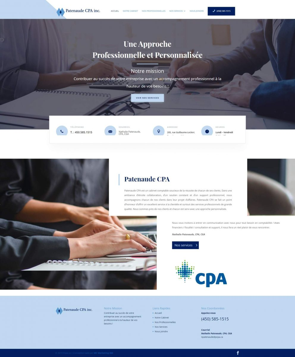 accounting website desgin in montreal