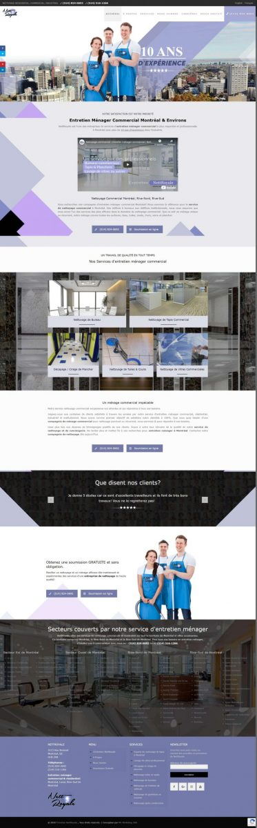 cleaning service in montreal company website design scaled