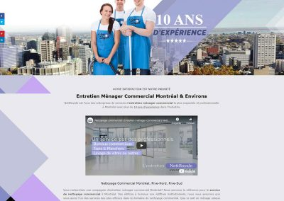 cleaning services website design