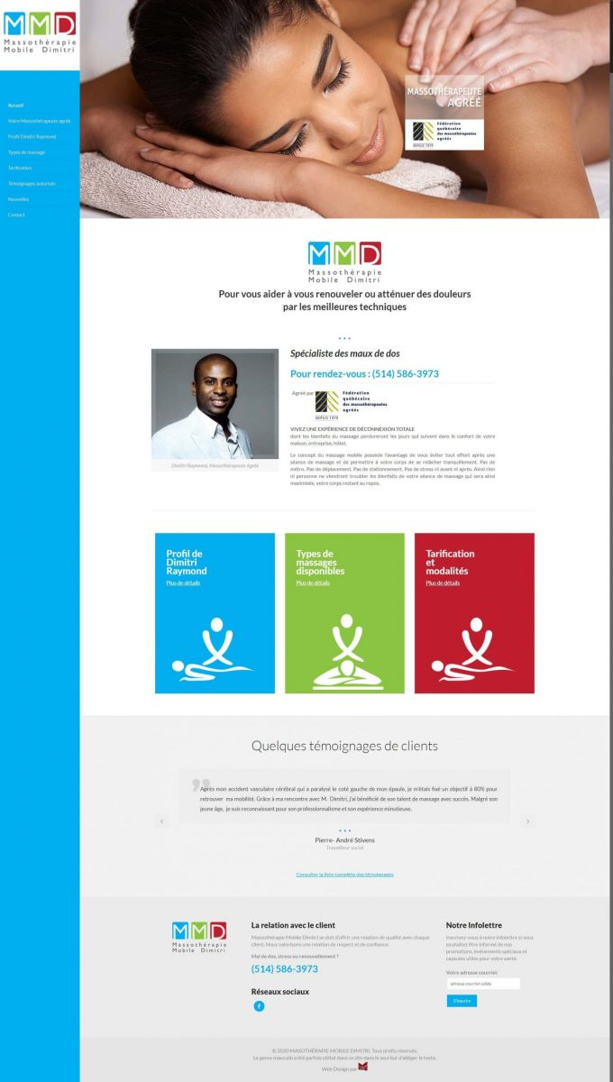 mobile massage service website design in montreal scaled