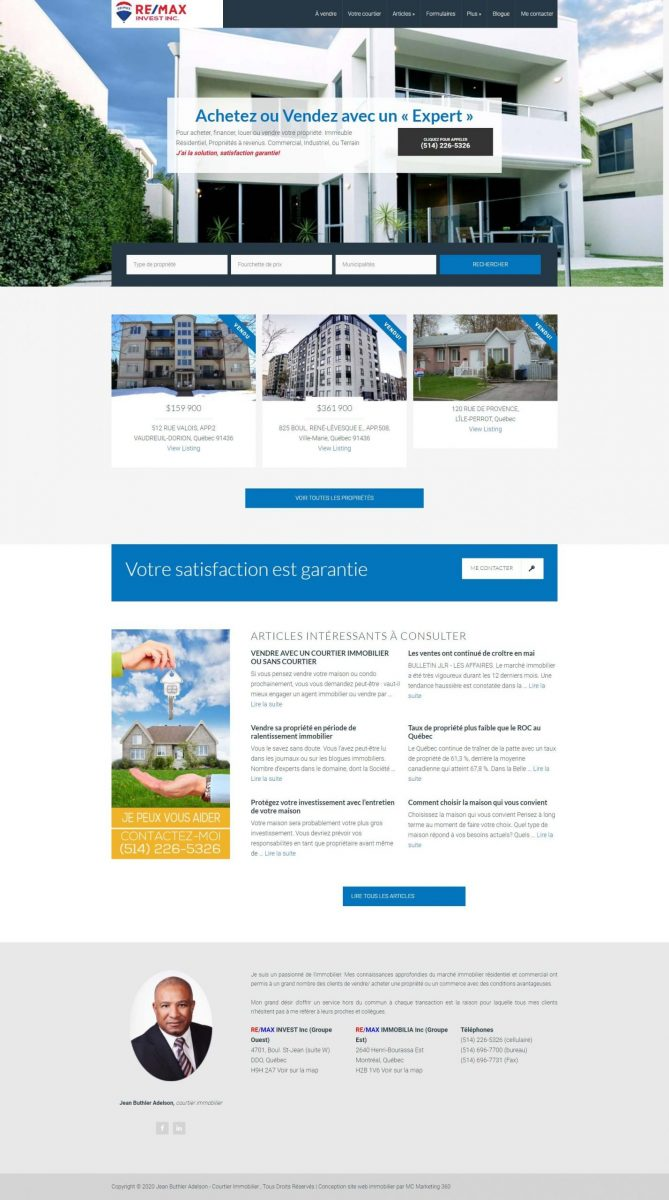 real estate agent in montreal website design scaled