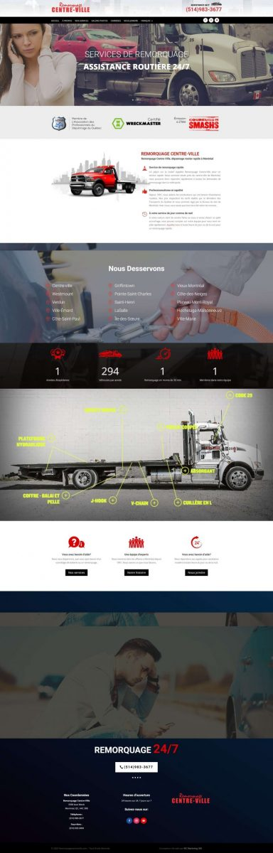 towing company website design scaled